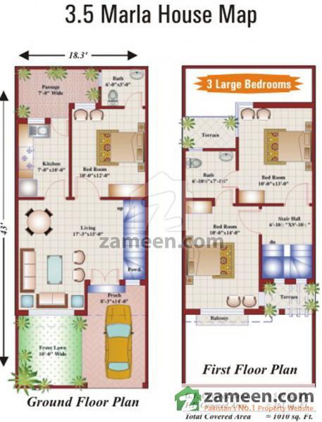 Pakistan 4 marla house maps joy studio design gallery for Home designs map